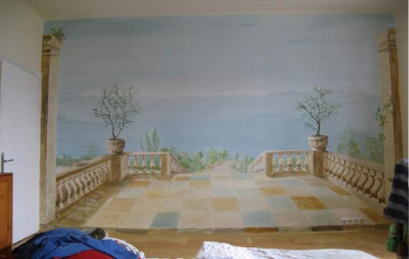 wall-painting terrace in the south